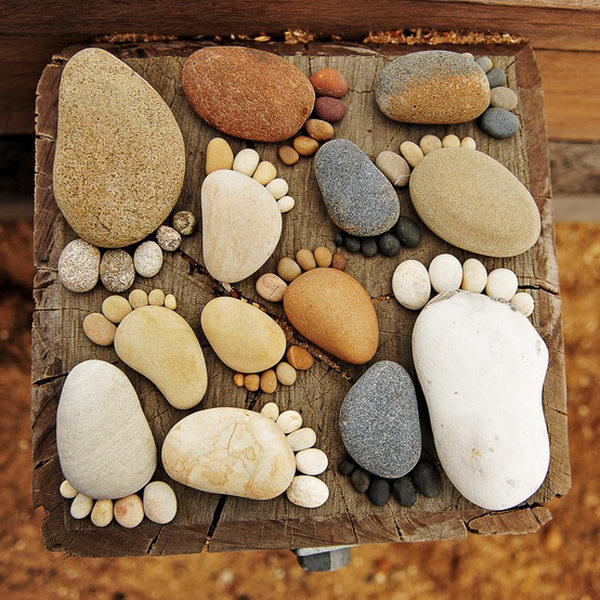 Foot Shape Stepping Stones. Not only functional but also can be used to decorate your garden. Make the walk in your garden more exciting and fun.