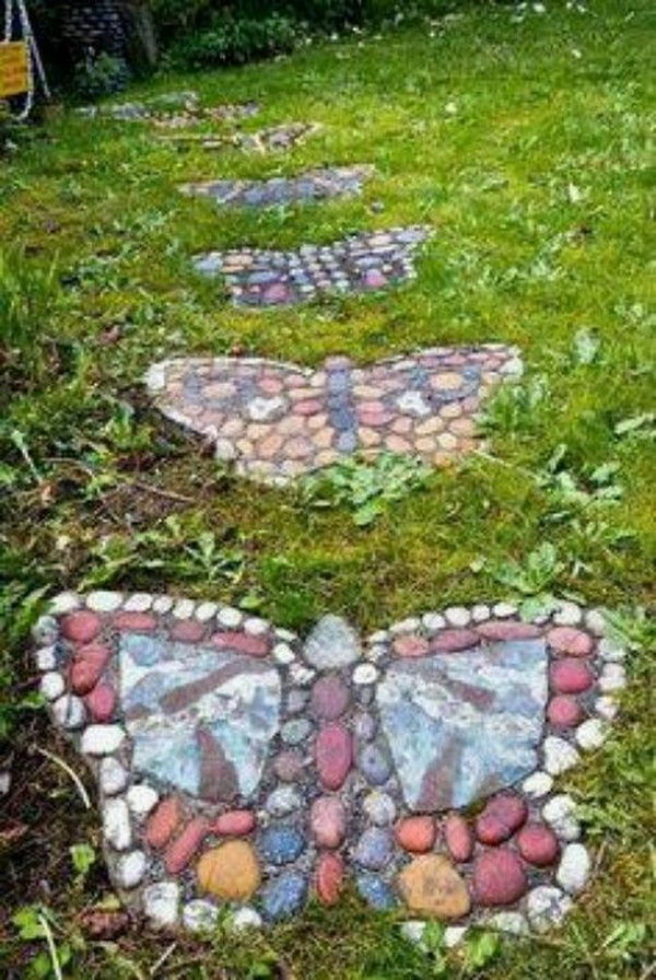 Butterfly Shaped Stepping Stones. Not only functional but also can be used to decorate your garden. Make the walk in your garden more exciting and fun.