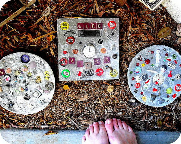 Cement Diy Stepping Stones