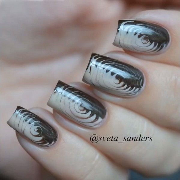 Cute And Creative Swirl Nail Art Hative
