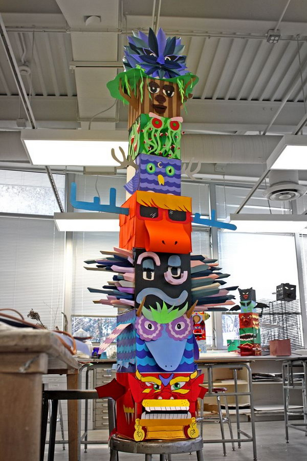 high school craft ideas cool totem pole craft projects for hative 4663
