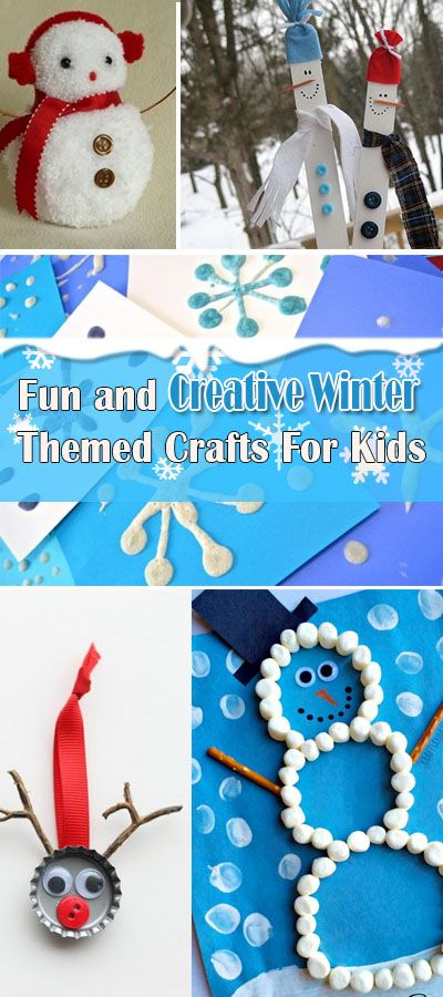 Fun And Creative Winter Themed Crafts For Kids Hative