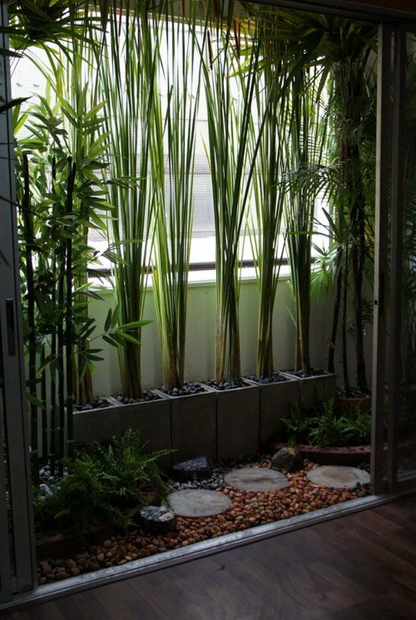 Balcony garden design ideas hative for Low maintenance potted plants
