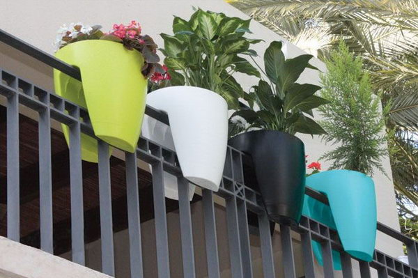 Railing Planter for Balcony Garden,