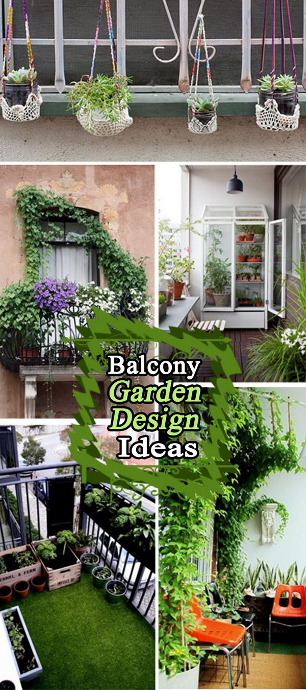 Balcony garden design ideas hative for Apartment patio garden design ideas