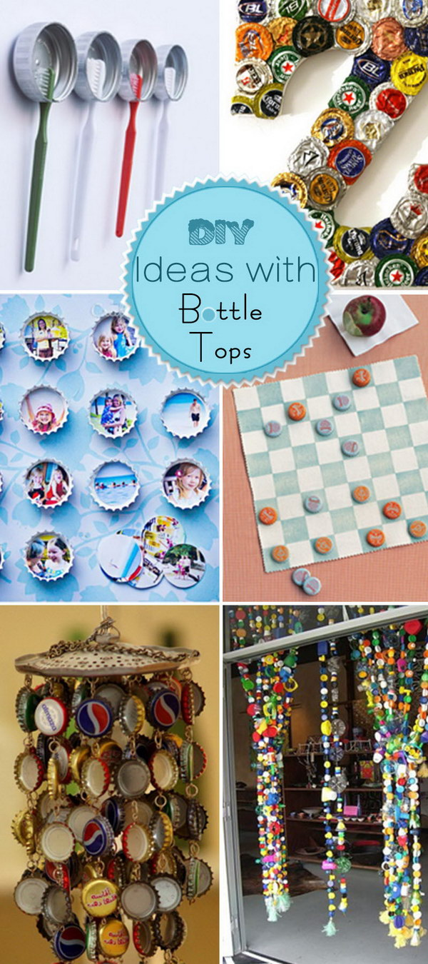 DIY Ideas with Bottle Tops!