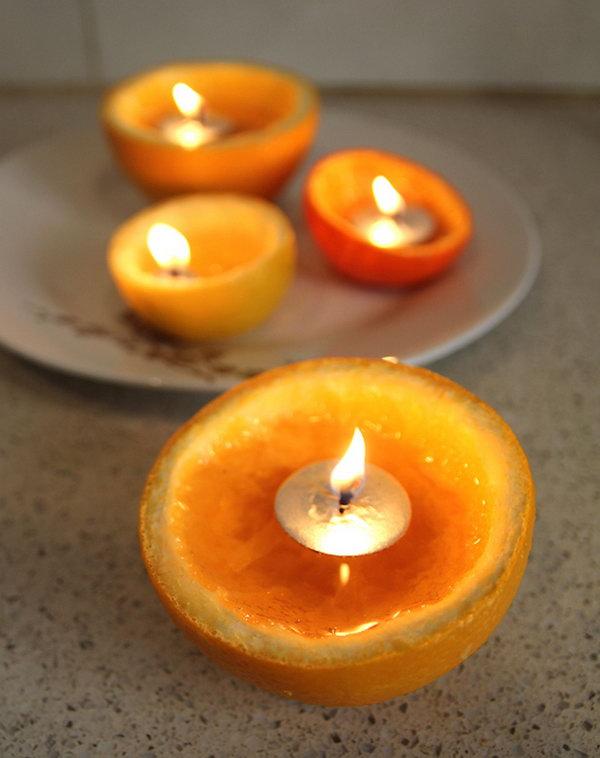 Orange Rind Candle,