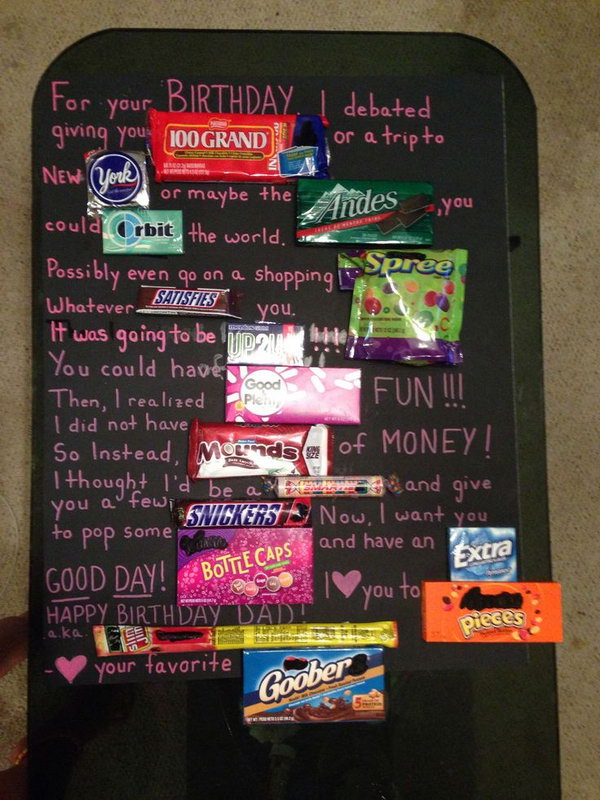 Candy Bar Poster Ideas with Clever Sayings - Hative