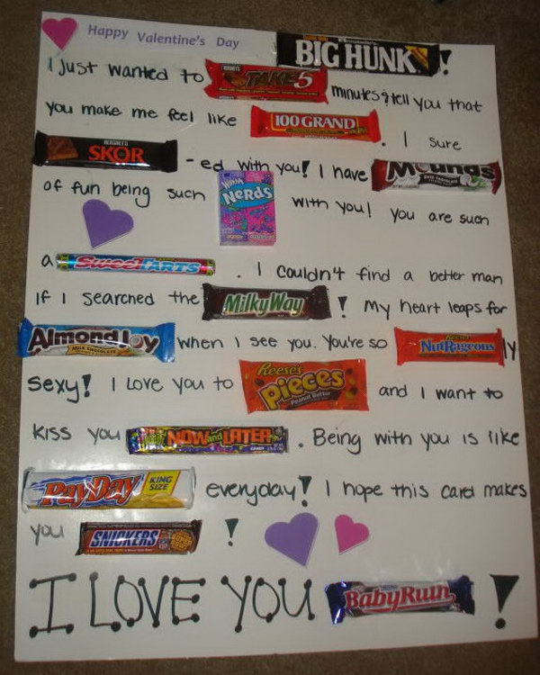 DIY Candy Bar Valentines Card