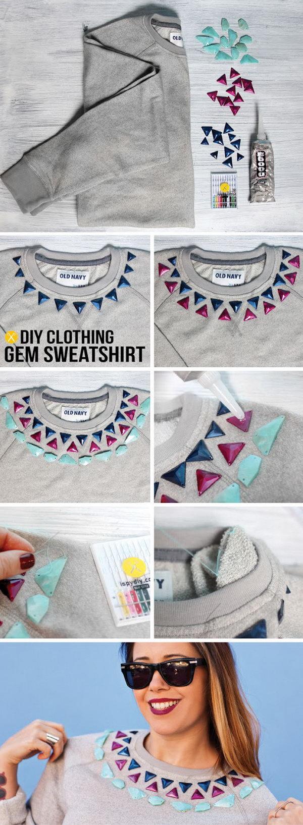 Gem Embellished Sweatshirt,