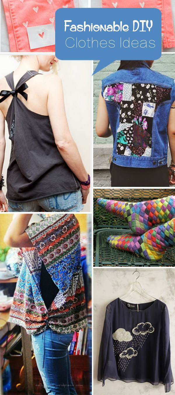 Fashionable DIY Clothes Ideas!
