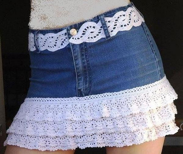 Jeans Shorts Decoration. Decorate your old shorts with colored ropes, wire, buttons or zippers, denim, sequins, silk and lace and what ever you like. It is fun and inspiring to make some creative shorts for yourself.