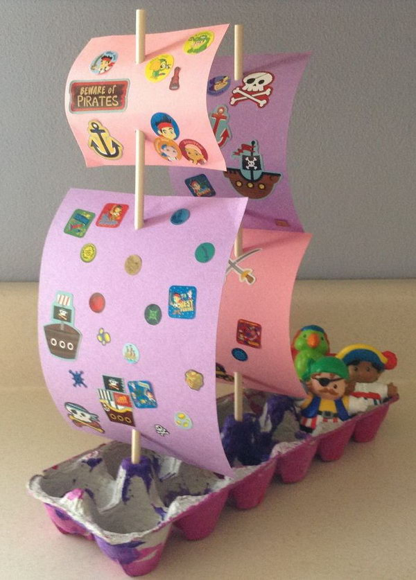 This cute pirate ship is sure to keep your child entertained while designing and even afterwards.