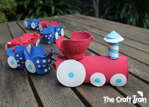 Egg Carton Train,