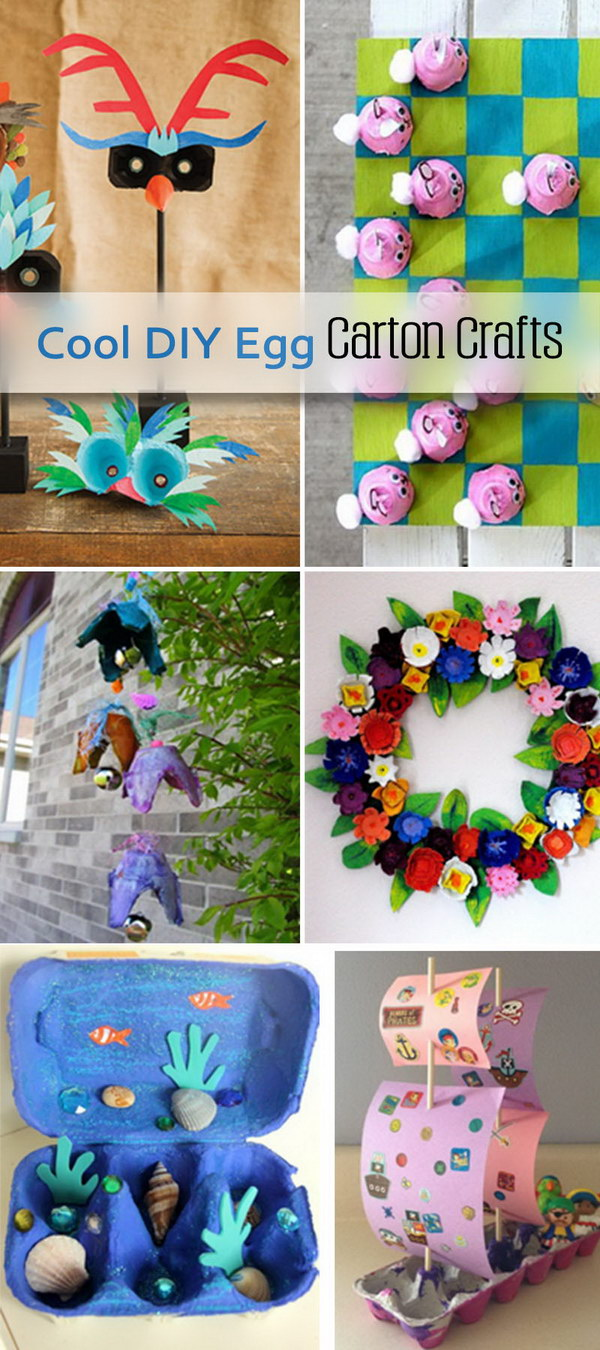 cool diy egg carton crafts hative