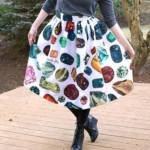 Shower Curtain Skirt. Do something new today that will be fashionable all summer.