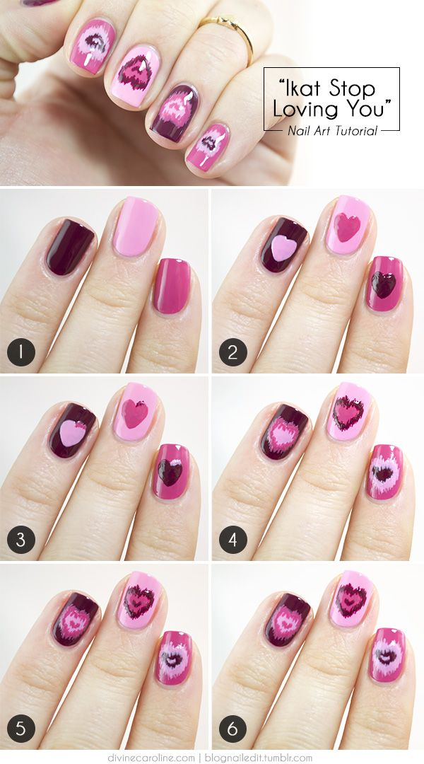 Step By Step Heart Nail Art Designs For Valentine S Day Hative