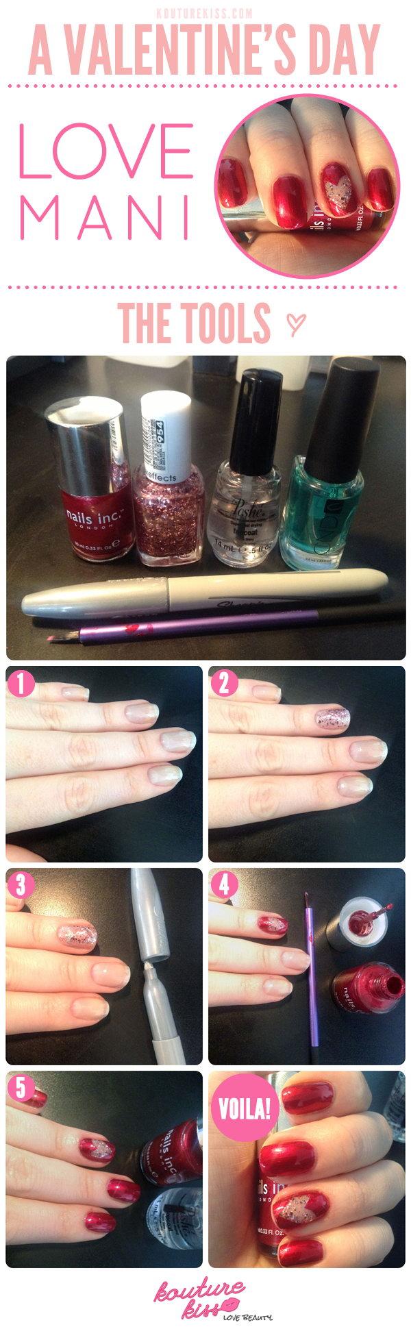 DIY Valentines Manicure,