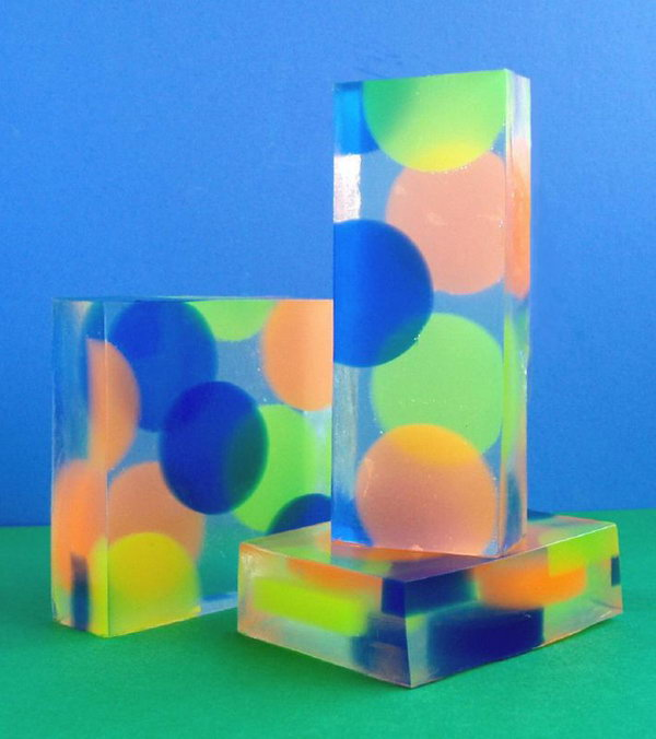 Colorful Dotted Handmade Soap,