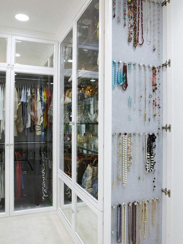 Creative DIY Jewelry Storage Mirror