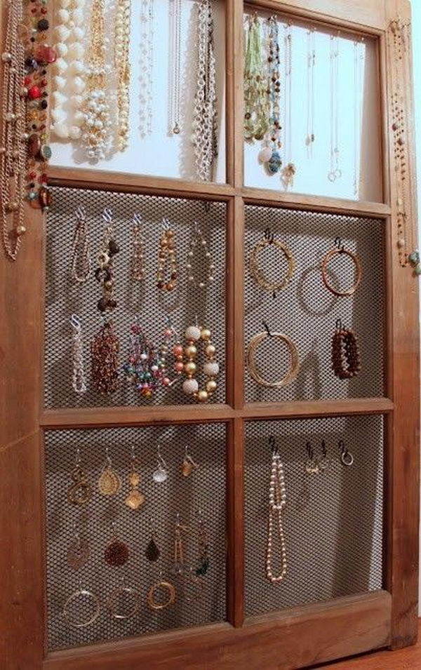 Old Window Jewlery Organizer.