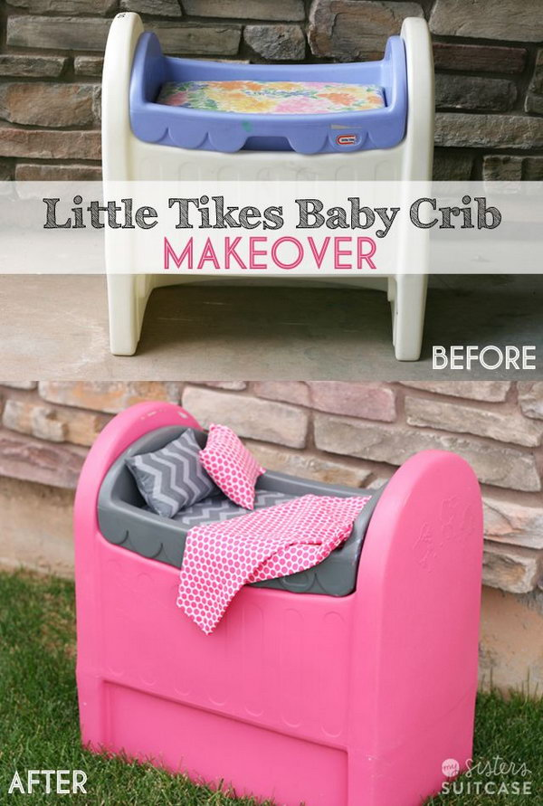 spray painted furniture ideas. Spray Painted Plastic Baby Crib, Furniture Ideas