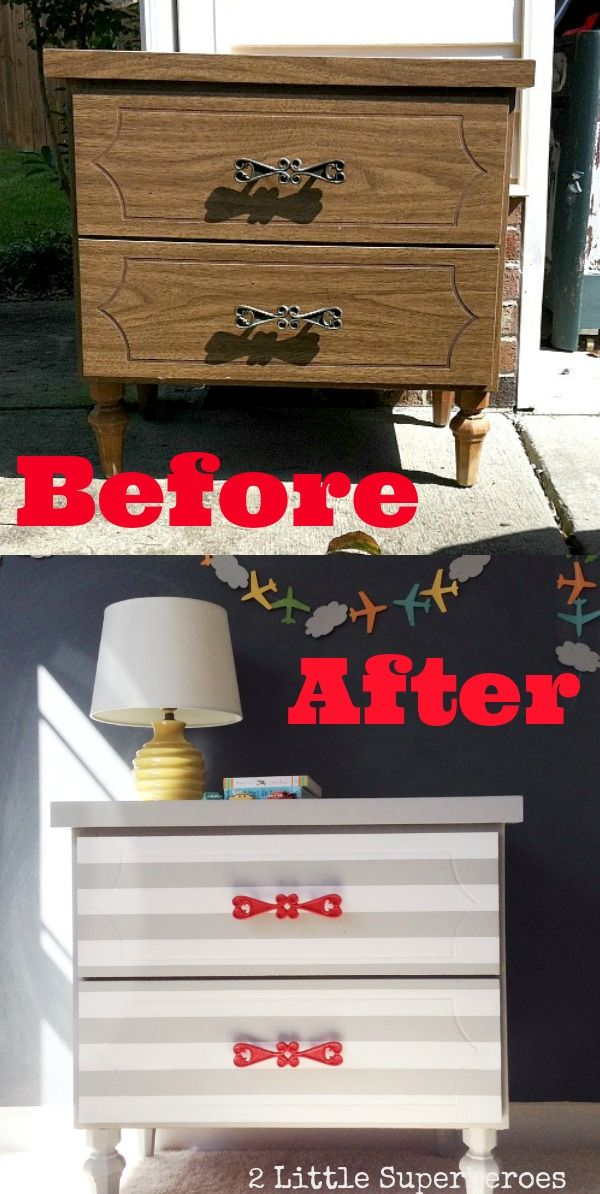 Cute Painted Nightstand,
