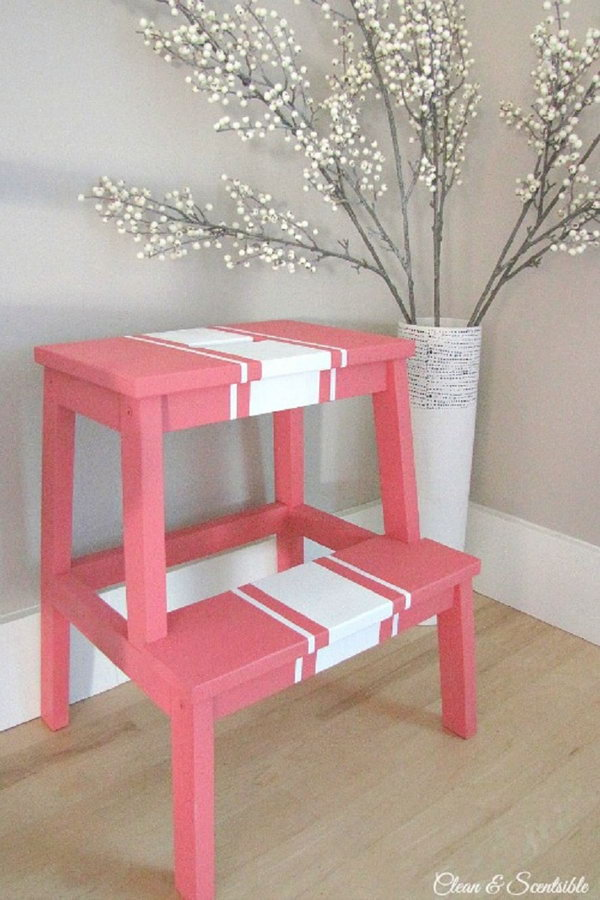 Painted BEKVAM Step Stool,