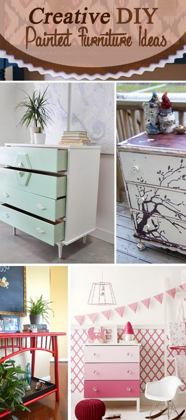 diy painting furniture ideas. Creative DIY Painted Furniture Ideas! Diy Painting Ideas F