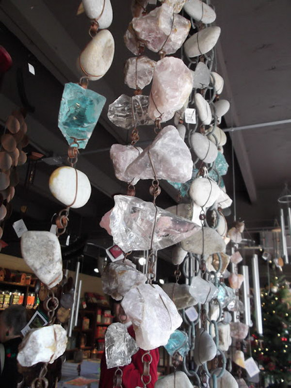 Collect rocks at the beach for this rain chain project and this would be a great way to showcase your treasures.