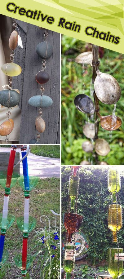 These creative rain chains add a creative spin to your backyard and garden!