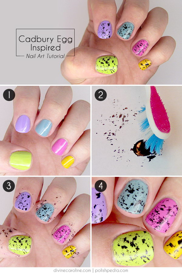 Easter Nail Art Inspired From Cadbury Mini Eggs It Makes Me Hungry Just Looking At