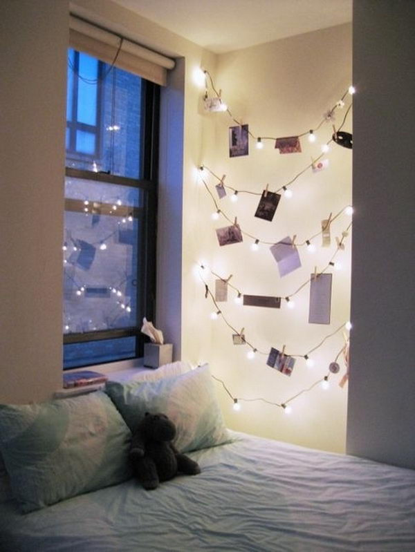 String Lights For Bedroom Diy : 30+ Cool String Lights DIY Ideas - Hative