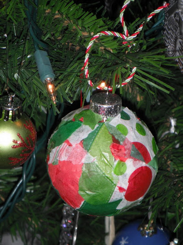 Creative tissue paper crafts for kids and adults hative for Christmas ornament craft ideas adults