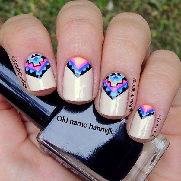 cool tribal nail art ideas and designs work to mark rites of passage