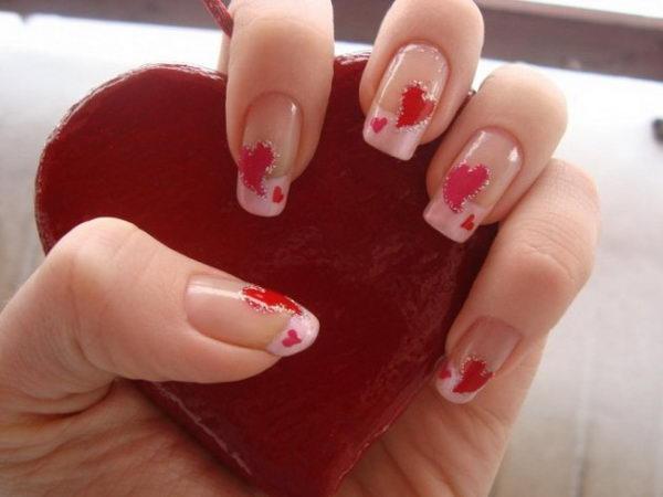 Romantic Valentine Nail Art.