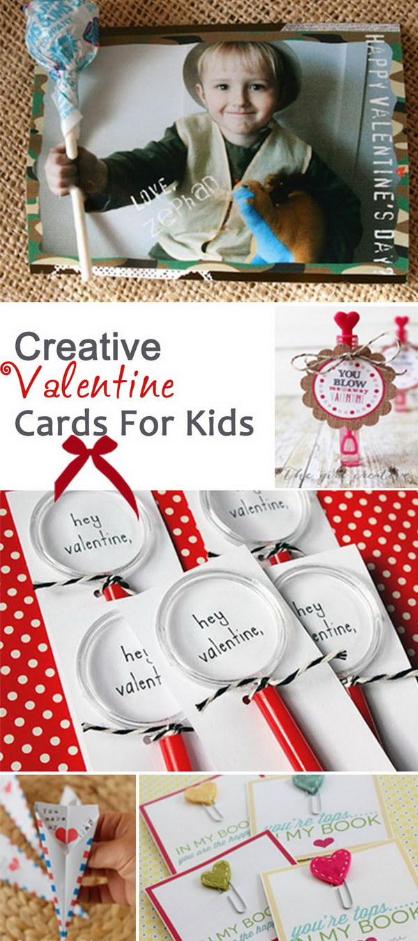 Creative Valentine Cards For Kids!
