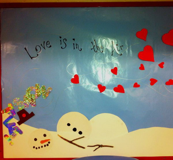 Love Me is a lovely idea for Valentine's Day bulletin board ...