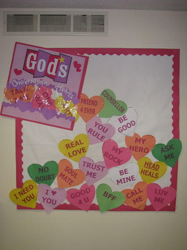 God's Conversation Hearts Bulletin Board,