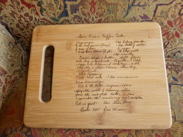 What a wonderful present for family history for this wood burned ...