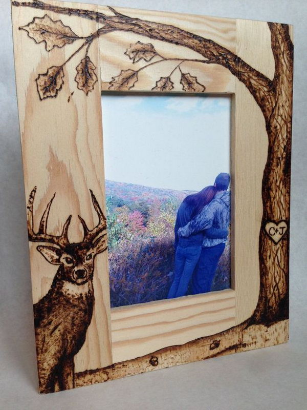 Cool wood burning carving project ideas hative for Cool picture frame designs