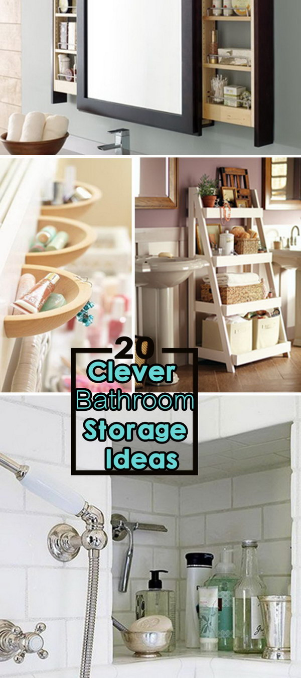 Clever bathroom storage ideas 28 images family for Clever bathroom ideas