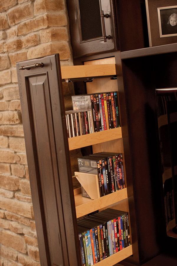 Creative diy cd and dvd storage ideas or solutions hative In wall dvd storage
