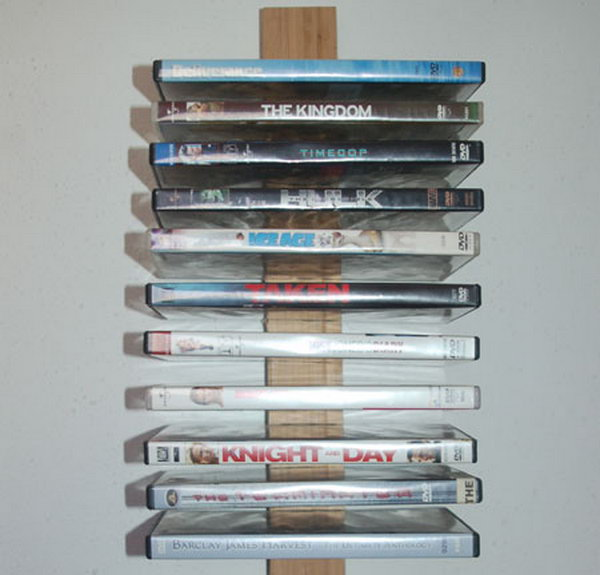 This DVD Storage Rack On Wall Is Simple To Make And Wonu0027t Cost A
