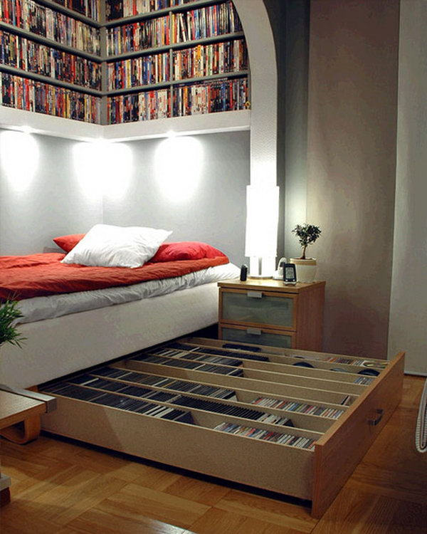 Superbe Save Your Space With These CD Storage Drawers Underneath Bed And Shelves  Overhead.