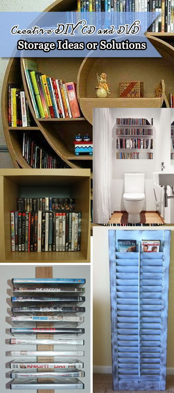 Creative DIY CD And DVD Storage Ideas Or Solutions!