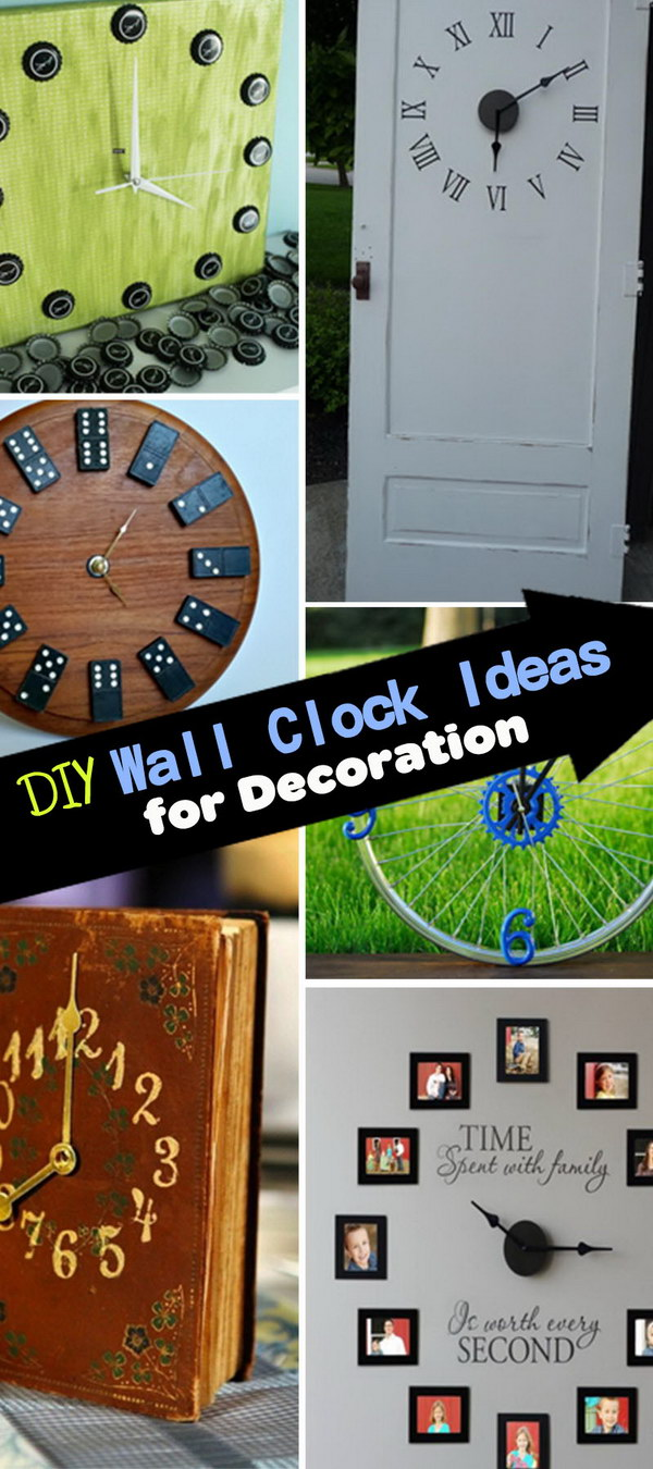 DIY Wall Clock Ideas for Decoration!