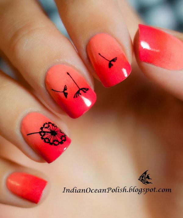Cute Dandelion Nail Art Designs Hative
