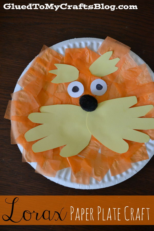 This Lorax paper plate craft has simple supplies and is easy for children of all ages. The book that inspired this craft is The Lorax.