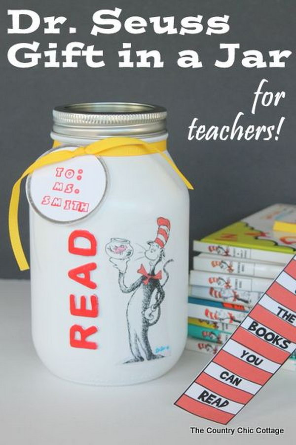 A fun 15 minute craft that will make a great gift in a jar for that special teacher.